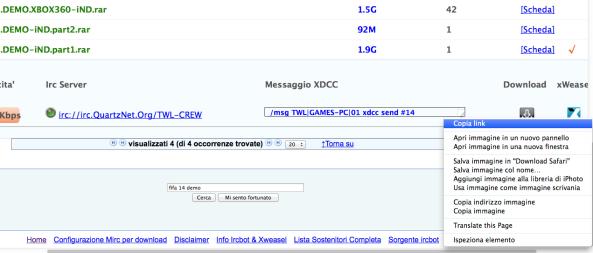 ircbot xdcc link copia